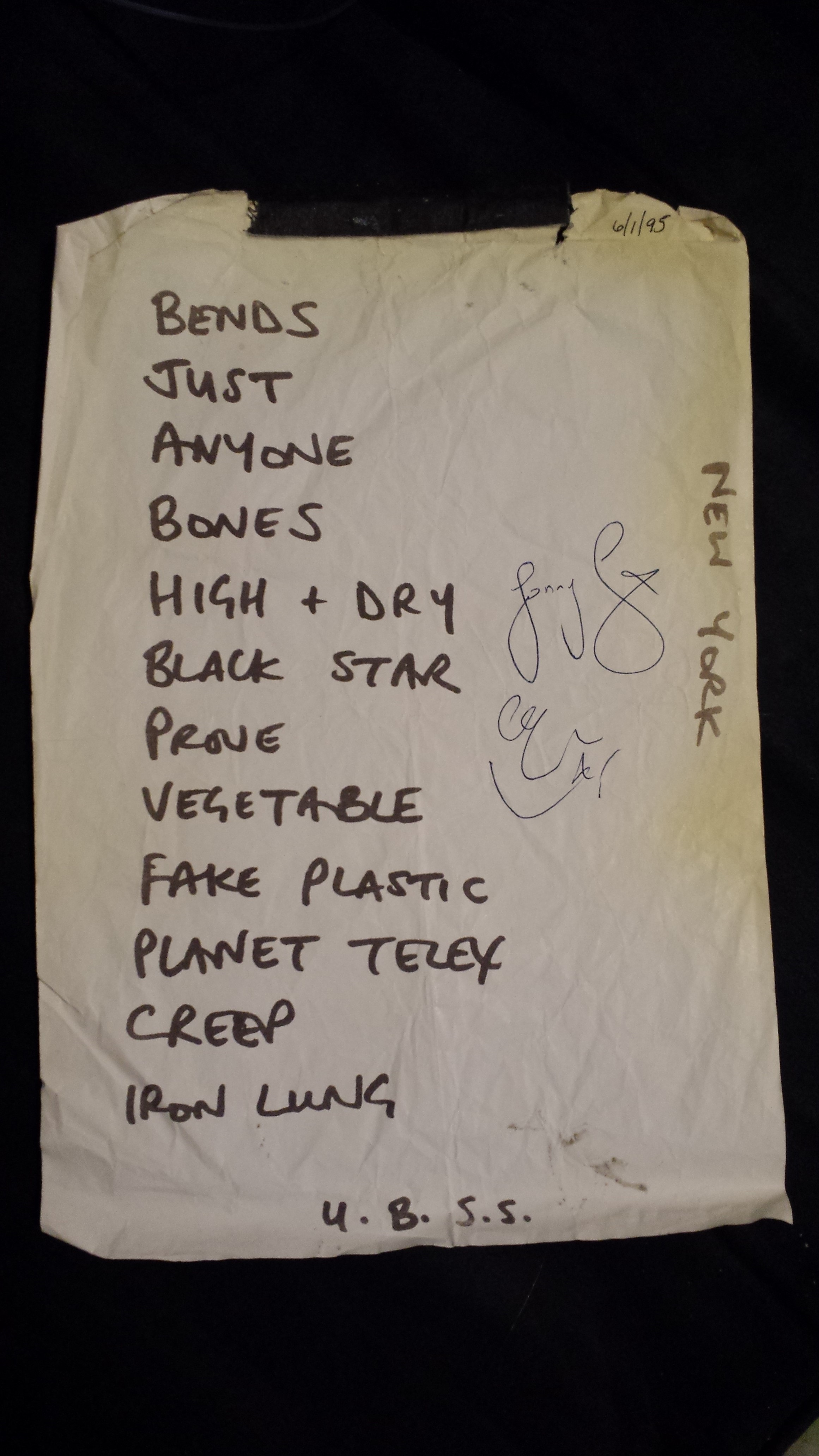 The coloring book tour setlist - Radiohead Tramps 1995 Set List